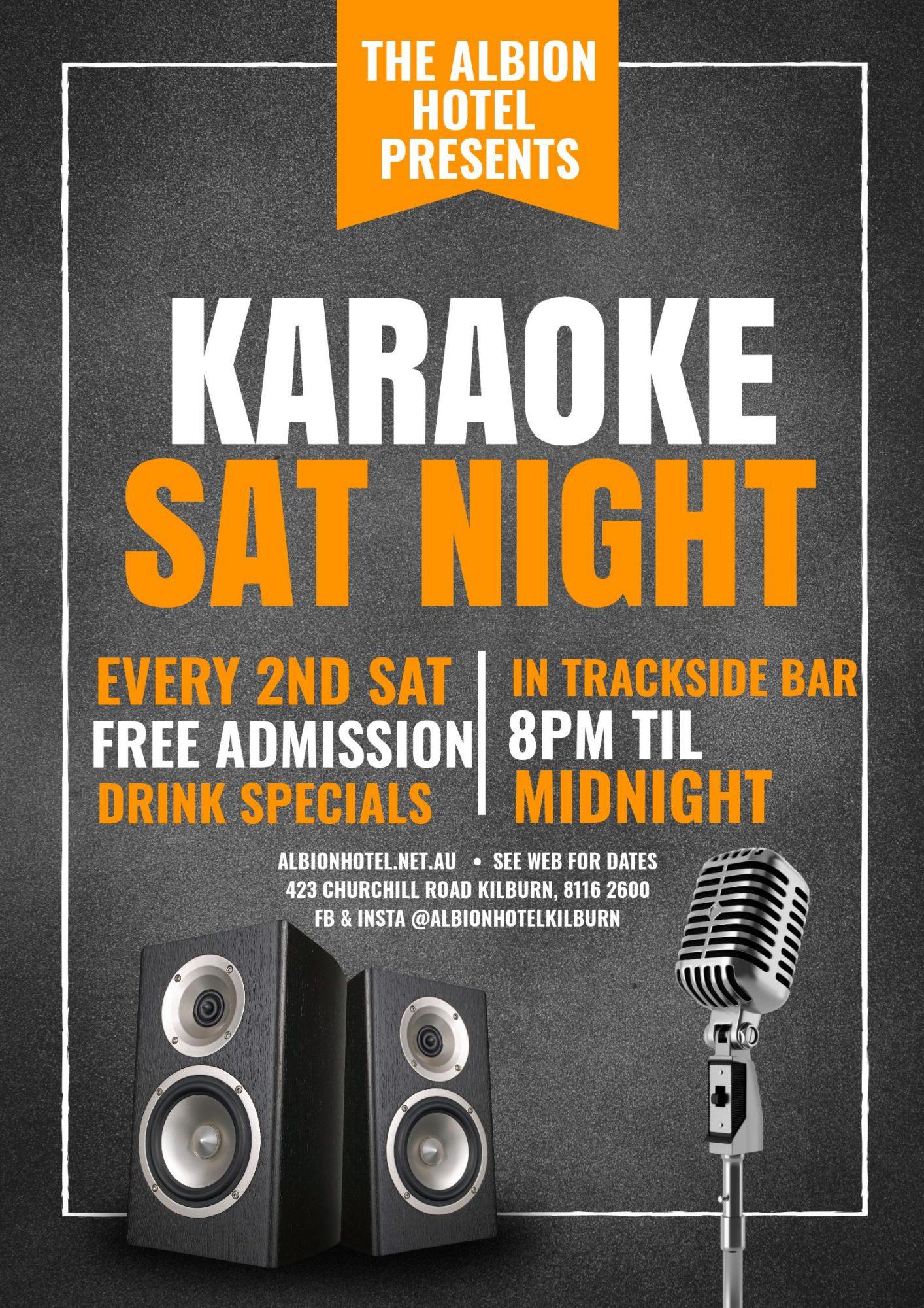 Karoke – LIVE FROM 8PM